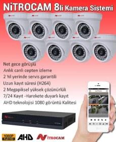 8 Kameralı Nitrocam Güvenlik Sistemi